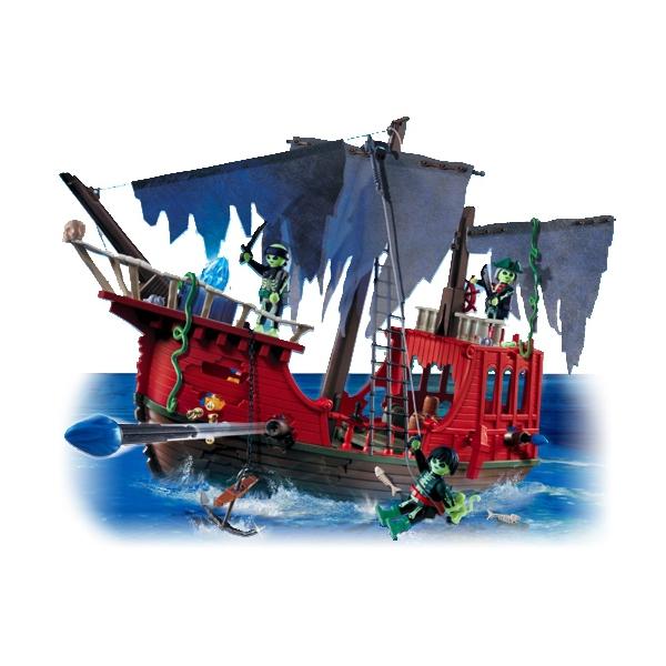 Clicks playmobil 4806 barco pirata fantasma bundest for Barco pirata playmobil